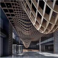 广东铝单板厂家 弧形铝格栅造型 造型铝单板定制