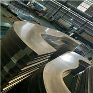 2.5mm弧形铝单板 波浪形铝单板 造型铝单板加工中